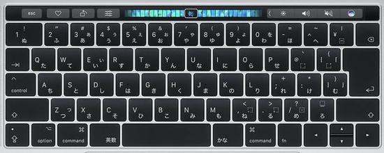 ▲ 日版 MacBook Pro 键盘