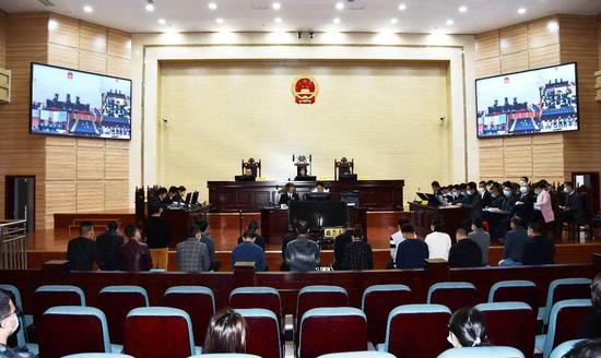 四川攀枝花警方破獲的非法控制計算機信息系統案于2月24日在攀枝花東區法院開庭審理。 來源:攀枝花東區人民法院