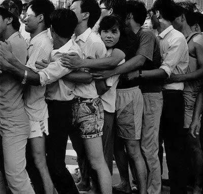 深圳抢购新股现场,1992年