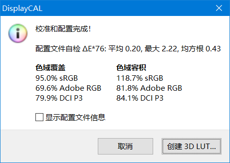 ▲ 120Hz LCD 屏幕色域