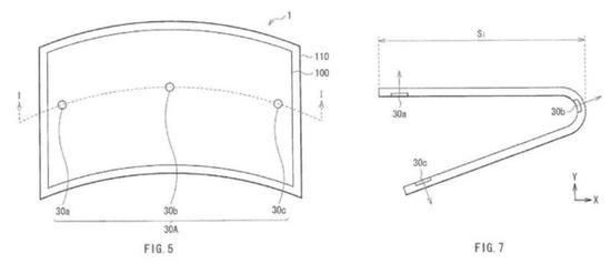 索尼柔性屏专利