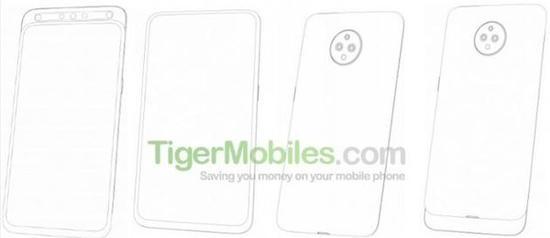 联想手机新设计专利图(图片来源TigerMobiles)