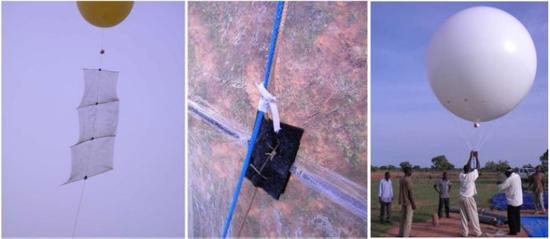 氦气球和粘网