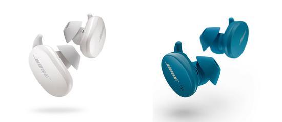 ▲左为 Bose 消噪耳塞,右为 Bose 无线耳塞