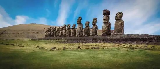 复活节岛的雕像