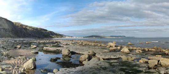 英国的莱姆里吉斯海岸,如今这里每年还会举办化石节。图片来源:wikipedia