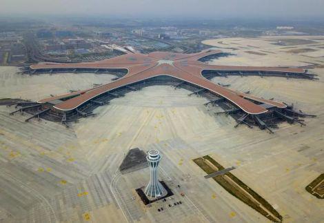 圖12:北京大興國際機場,圖片來源:新華社