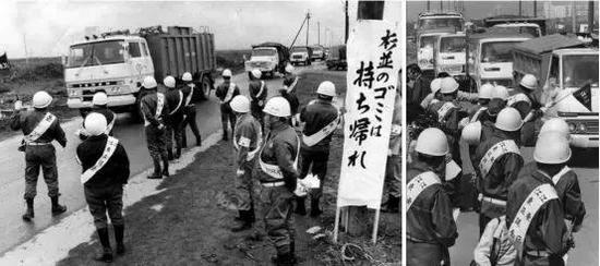 """""""东京垃圾战争""""时的场面(图片来源:https://mainichi.jp/graphs/20171012/hpj/00m/040/001000g/1)"""