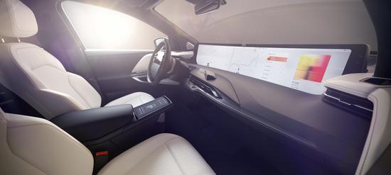 拜腾汽车的48英寸共享全面屏