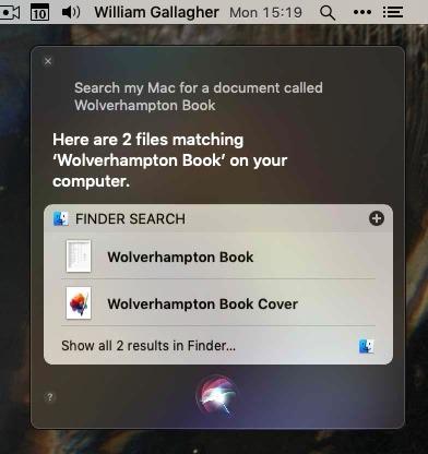 Siri在MacOS中的表现