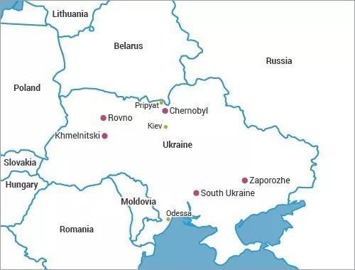 切尔诺贝利的地理位置。图片来源:world-nuclear.org