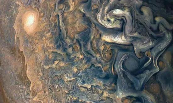 木星云层之上,拍摄于2017年12月16日。来源:NASA