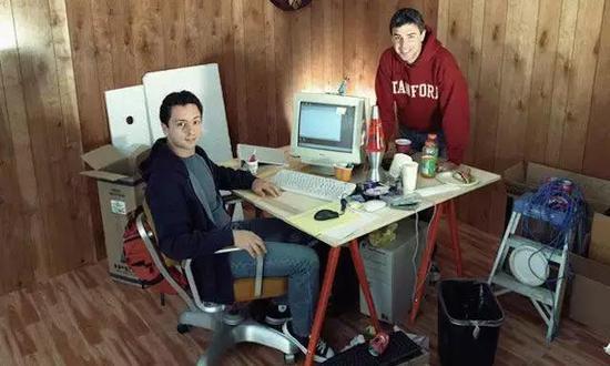 △两位Google创始人早年创业时