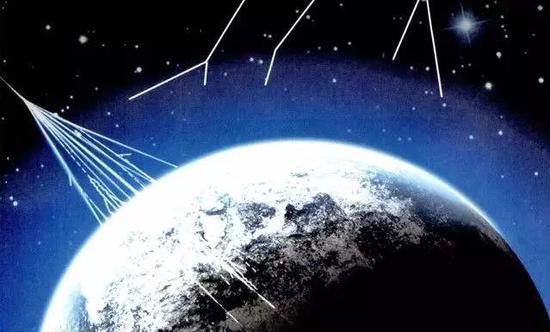 宇宙辐射示意图(图片来源:百度百科)