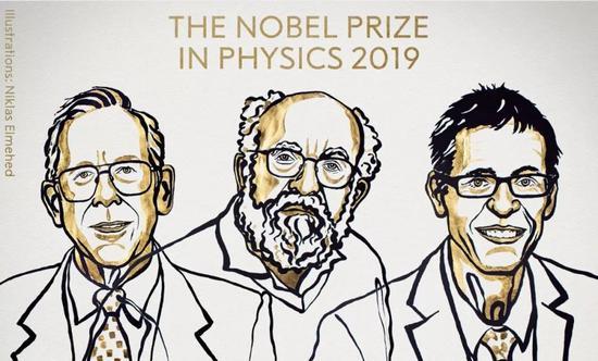 2019年诺贝尔物理学奖给了三位天体物理学家