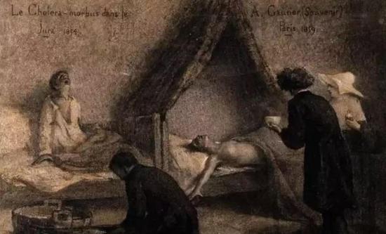 霍乱患者的惨状