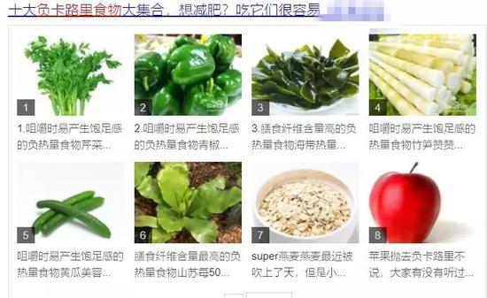 网上盛传负卡路里食物:芹菜 (图片来源:某搜索网站截图)
