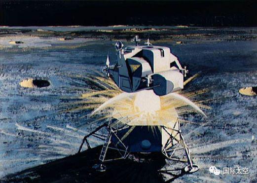 月面工作结束后航天员返回登月舱,进入上升级,上升级从登月舱上起飞,离开月球表面上升