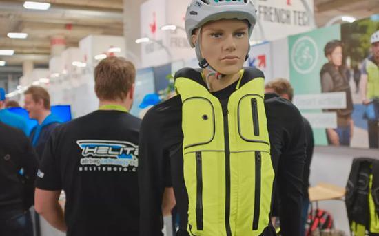 这难道是软猬甲?法国自行车安全背心亮相CES2019-领骑网
