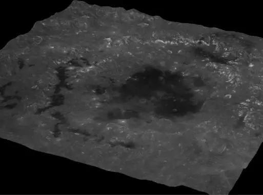 东海盆地(Mare Orientale)三维影像图 中心地理坐标为:19.4°S,92.8°W