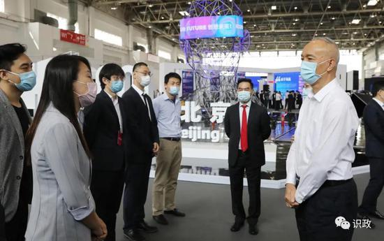 蔡奇陈吉宁参观HICOOL全球创业者峰会暨创业大赛展览展示区