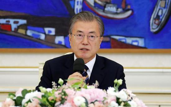 韩国总统文在寅 视觉中国 图
