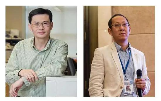 ▲本研究的两位通讯作者Shawn Xu教授(左)与刘剑峰教授(图片来源:美国密西根大学与华中科技大学官网)