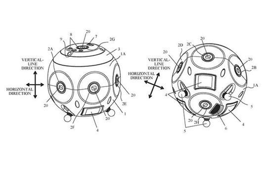 佳能公布360度相机专利