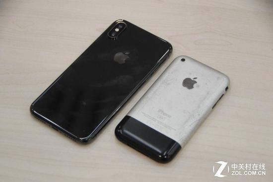 iPhoneX与iPhone初代对比