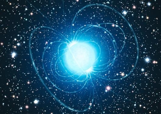 1/4的白矮星会在强大的磁场中结束生命。图片来源:英国阿马天文台Calcada