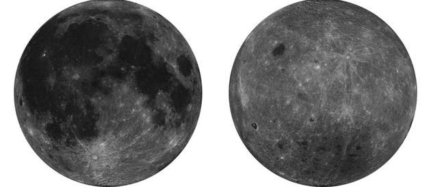 中国嫦娥二号探测器拍摄月球全图。