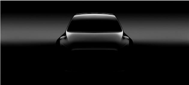 特斯拉公布新车Model Y轮廓图 可能没有方向盘