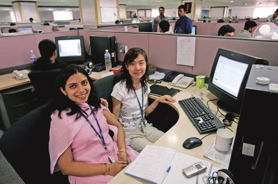 华为印度钻研所的办公区。图/视觉中国