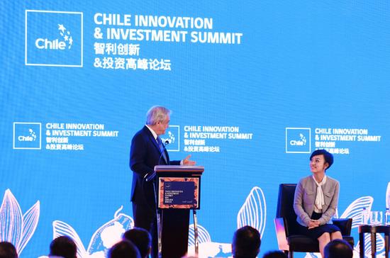智利总统皮涅拉与滴滴总裁柳青