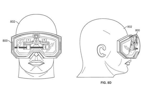 ▲苹果申请了大量AR / VR眼镜专利