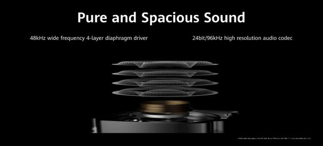 4层40mm复相符振膜使发声单元频响周围更汜博