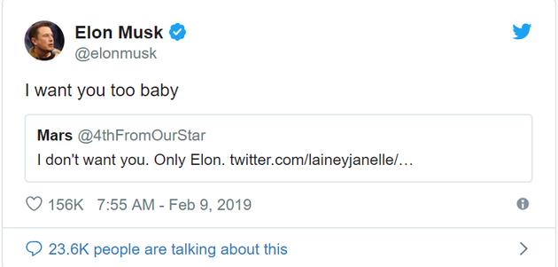 太皮了!马斯克居然在Twitter上和火星调情