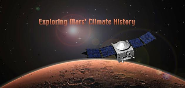 """""""美文""""(MAVEN)是人类历史上第一颗专门的火星大气探测器,2013年开始执行探测任务"""