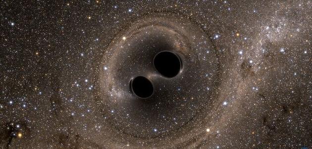 """一个星系""""怀抱""""两个大黑洞是种怎样的体验?"""