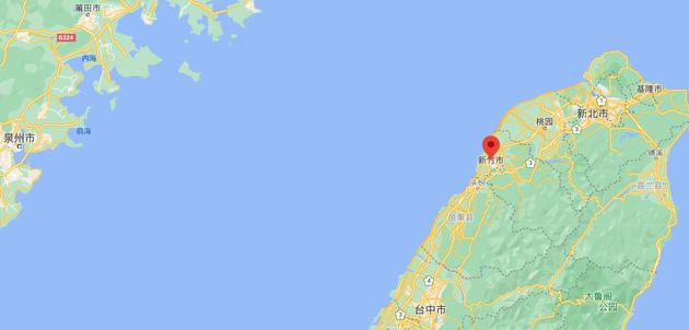 新竹市地理位置示意
