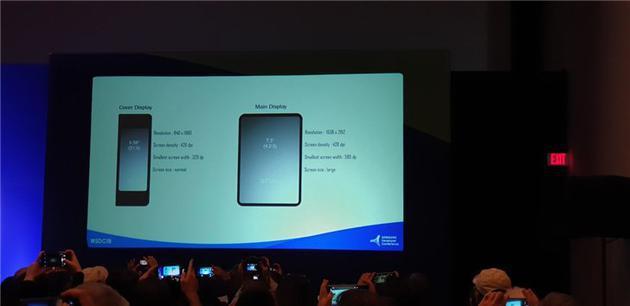 三星折叠屏手机玩的就是特别:两个屏幕,两种分辨率