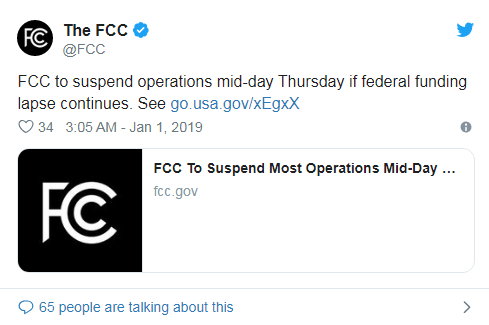 FCC警告暂收做事的推文