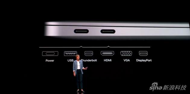 新Macbook Air共有兩個Type-C接口