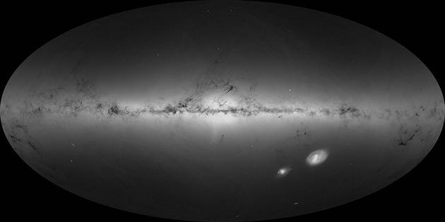 这就是盖亚观测到的18亿颗恒星的总密度