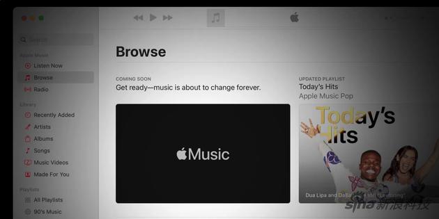 """苹果自己的页面上了一个新广告说""""音乐将永远改变"""""""