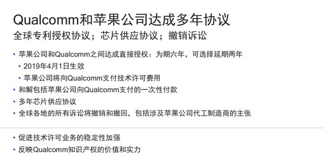 高通苹果意外和解:放弃所有诉讼 签订6年专利协议