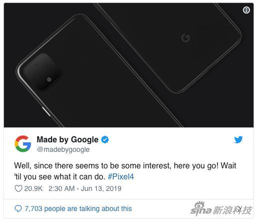 谷歌官方推特自曝信息