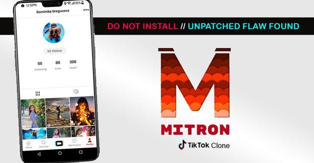 """""""山寨版TikTok""""Mitron被指存在漏洞,泄露用户信息"""