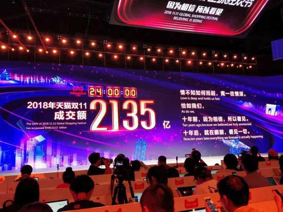 """见证中国消费力 """"双11""""再次刷新纪录令外媒咋舌"""