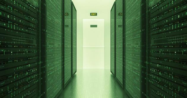 傳統數據中心的內部